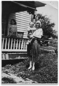 Ola Merica with Ruth Merica in background, Shenandoah Virginia circa 1930