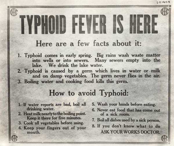 Typhoid sign