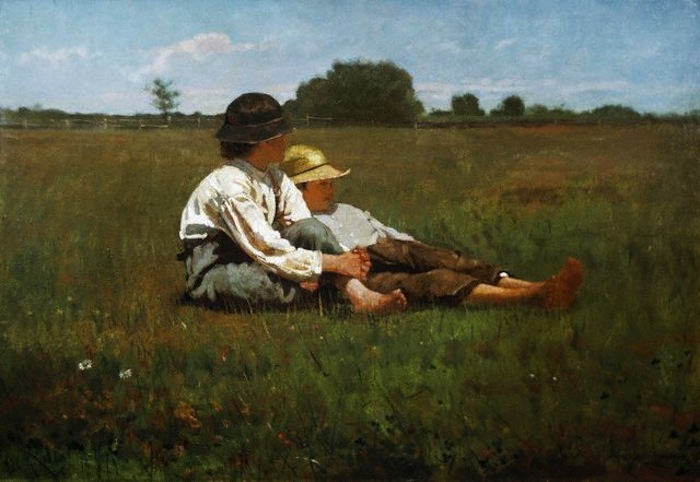 Winslow Homer Boys in a Pasture