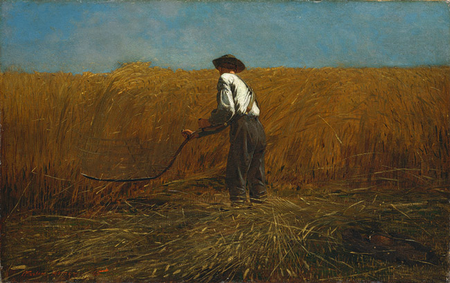 Winslow Homer man with scythe