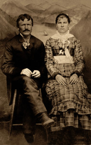 William Durret Collier and Mary M. Meadows wedding photo