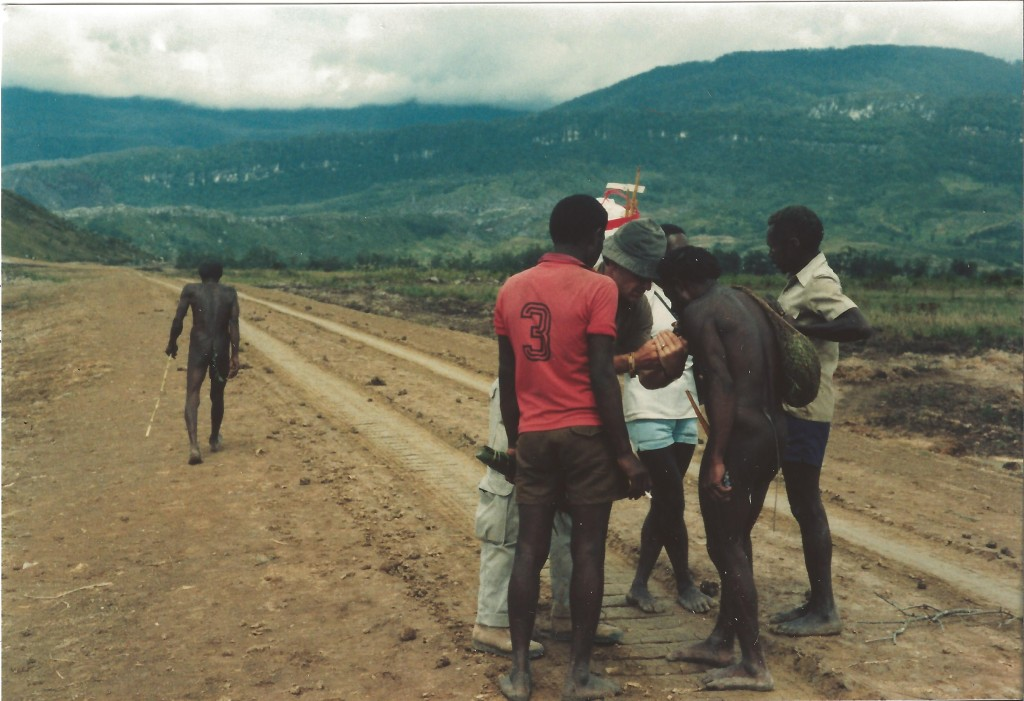 Baliem Valley, new road, Patrick Mulcahy 1984