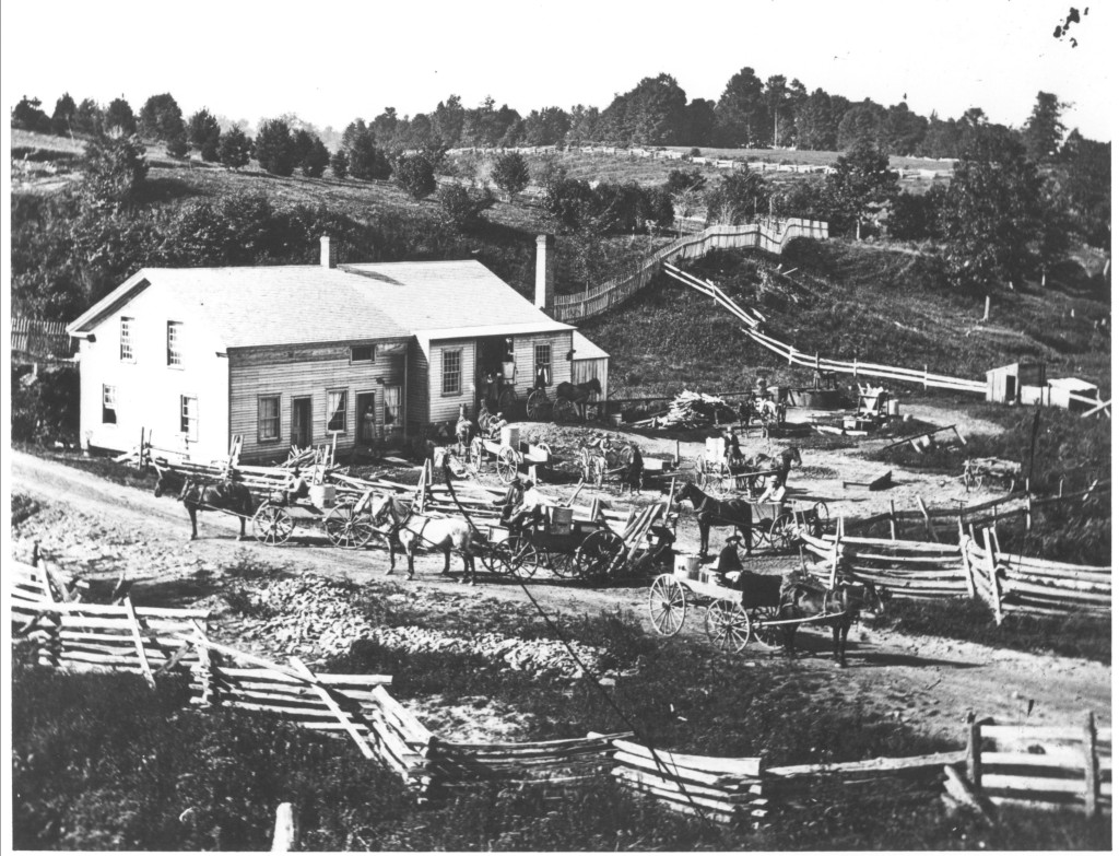 Franklin Brown cheese factory, Chagrin Falls, Ohio c.1870