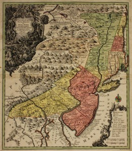 Pennsylvania NY NJ map 1751